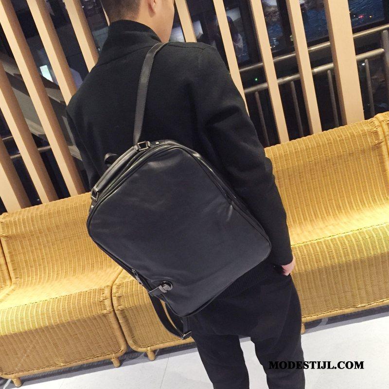 Heren Rugzak Sale 2019 Casual Student Tas Trend Bruine