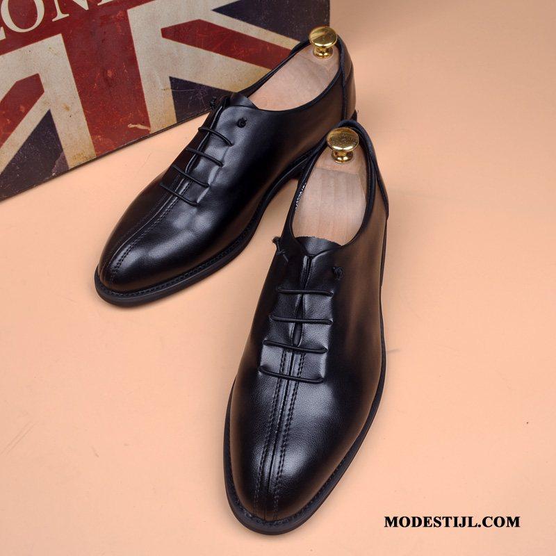 echt leren zwarte schoenen heren