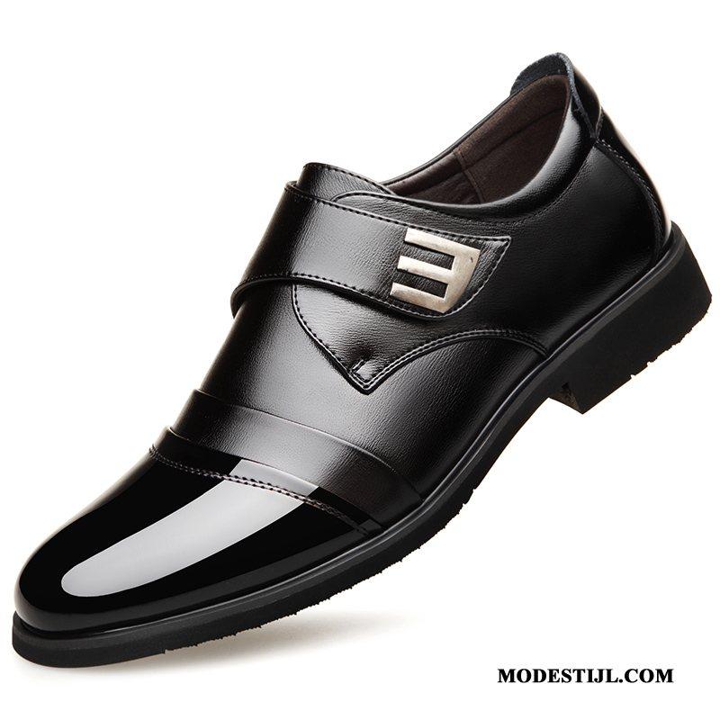 kopen leren schoenen heren zwart sale online